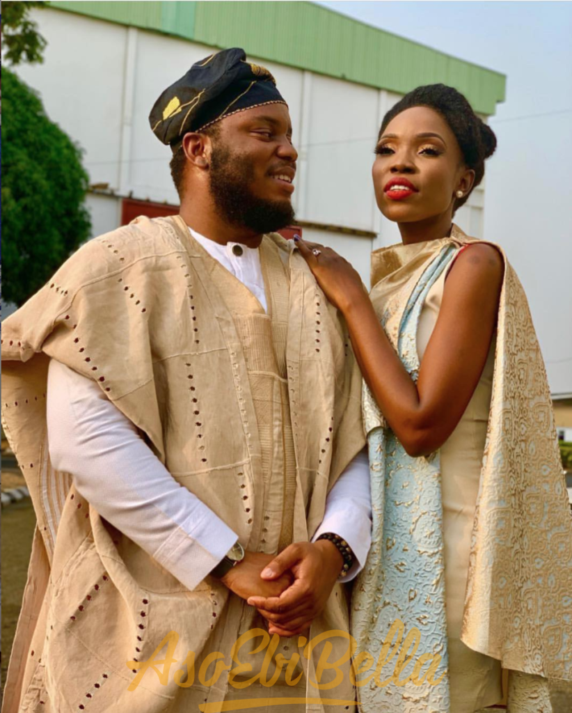 Lala Akindoju and Chef Fregz adekunle gold and simi traditional wedding simigold
